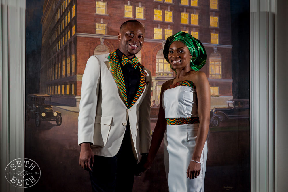 African Bride and Groom at the Columbus ACC